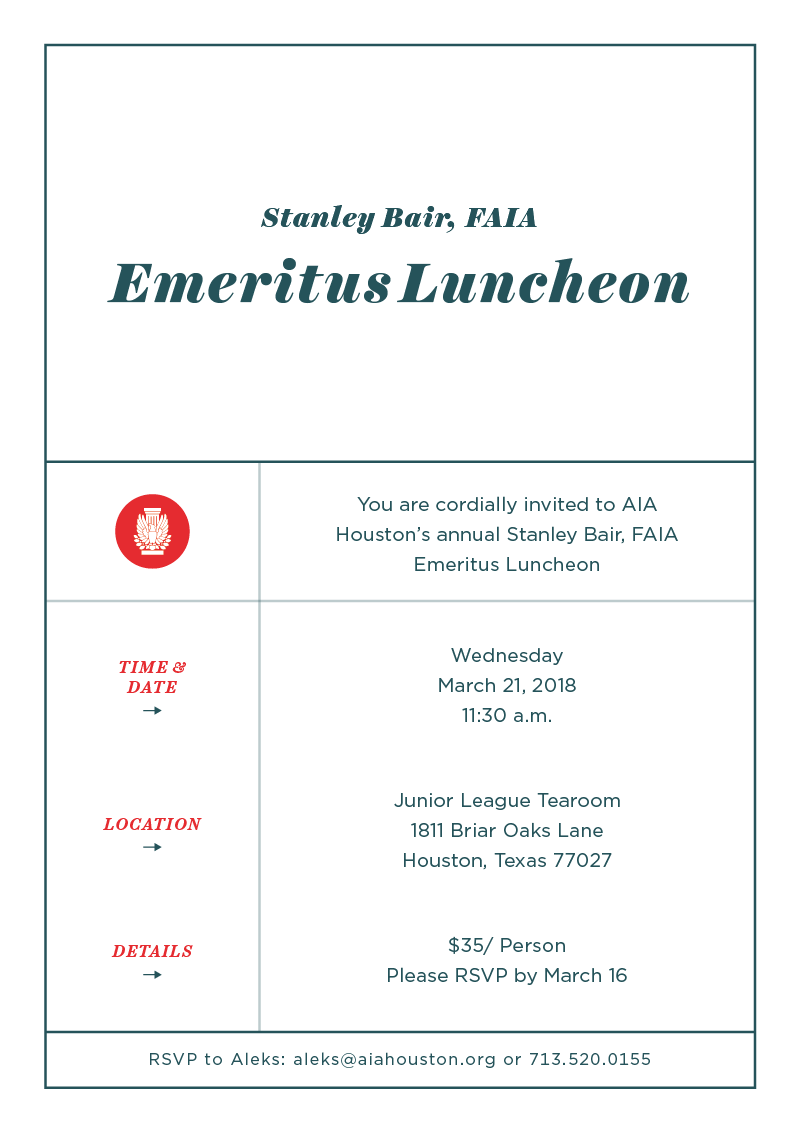 Emeritus Luncheon 2018 @ Junior League Tea Room | Houston | Texas | United States