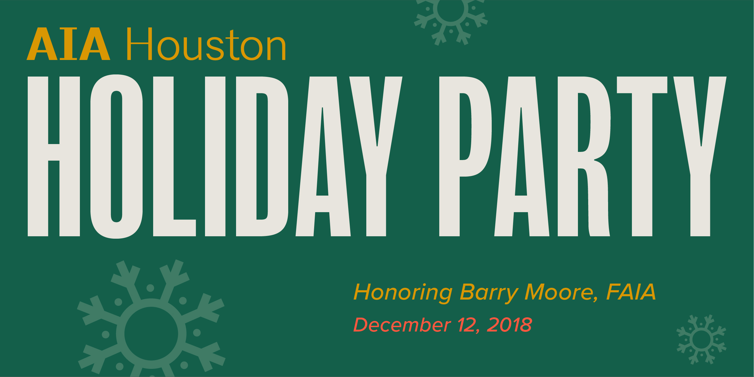 Honoring Barry Moore at AIAH Holiday Party @ Museum of Fine Arts Houston | Houston | Texas | United States