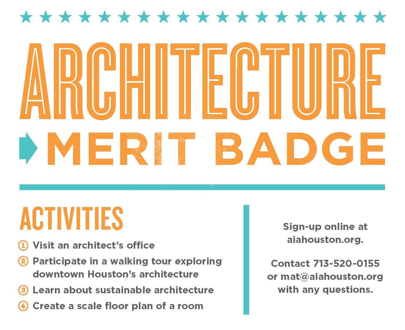 merit badge architecture workshop event events