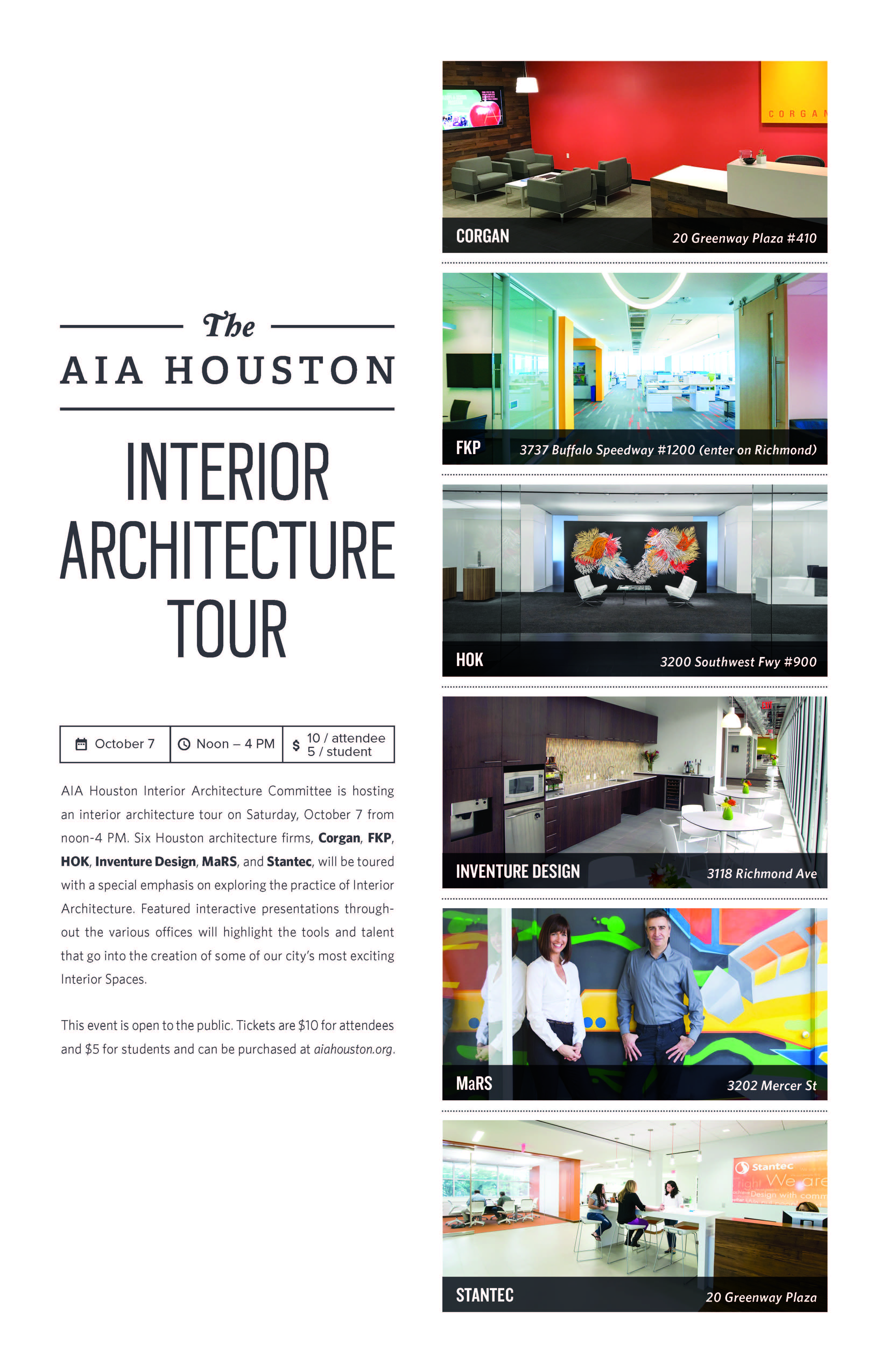 AIA Houston Interior Architecture Committee Is Hosting An Interior  Architecture Tour On Saturday, October 7 From 12   4 PM. Six Houston  Architecture Firms, ...