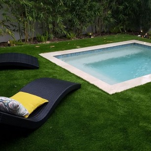 Permeable synthetic grass- Memorial