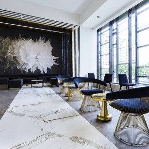 Contour Interior Design, LLC was hired to conceptualize and complete the interior design and interior architecture for the new 51Fifteen restaurant and bar located inside of the fourth largest grossing Saks Fifth Avenue located in Houston's upscale Galleria area.