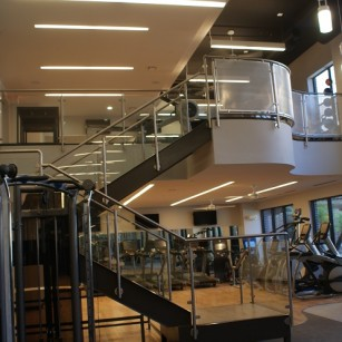 Fitness Center Houston INOX Stainless System with stainless Mesh Panels