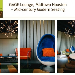 GAGE Mid-Century Modern Lounge ~ Midtown Houston TX