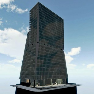 Orchids Tower, 600,000 sf, post tensioned slab structure