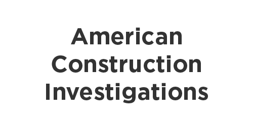 American Construction Investigations logo
