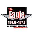 The Eagle 106.9 &107.5 Houston's Classic Hits logo