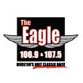 The Eagle 106.9 &107.5 Houston's Classic Hits logo